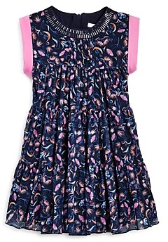 Chloé Girls' Tiered Floral Print Dress - Big Kid