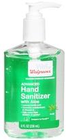 Walgreens Advanced Hand Sanitizer Gel Aloe