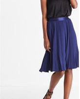 Express high waisted pleated midi skirt