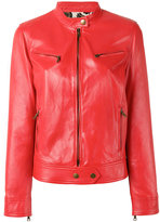 Etro zip up biker jacket - women - Lamb Skin/Viscose - 42