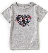 Under Armour Little Girls 2T-6X Splatter Heart Short-Sleeve Tee