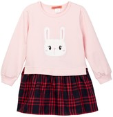 Funkyberry Contrast Skirt Animal Dress (Toddler & Little Girls)