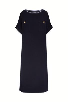 Gerard Darel Savina - Straight-cut Crepe Dress With Pockets