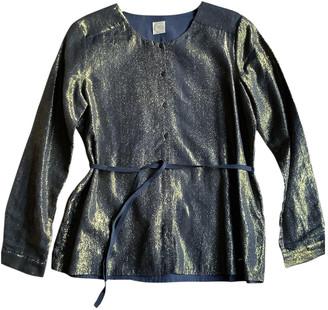 Des Petits Hauts Gold Cotton Leather jackets