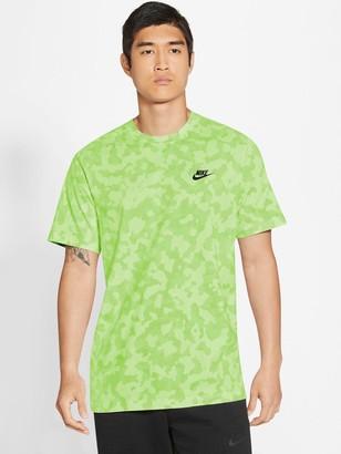 Nike Camo All Over PrintT-Shirt - Lime