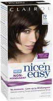 Clairol Nice 'N Easy Non Permanent Hair Color, 79 Dark Brown for Women, 1 Application