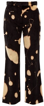 Hillier Bartley Bleach-splatter Corduroy Trousers - Black Multi