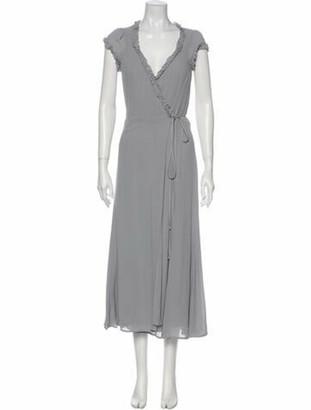 Reformation V-Neck Long Dress w/ Tags Grey