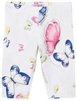 MonnaLisa White Butterfly Print Leggings