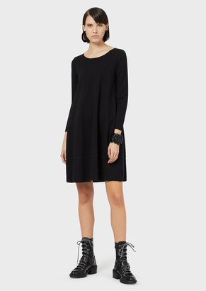 Emporio Armani Loose-Fit Dress In Milano Stitch Fabric
