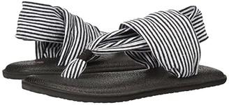 Sanuk Yoga Sling Girls (Toddler/Little Kid) (Black/White Stripes) Girls Shoes