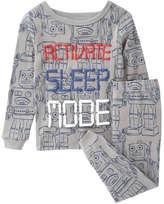Joe Fresh Baby Boys' 2 Piece Print Sleep Set, Smoke (Size 18-24)