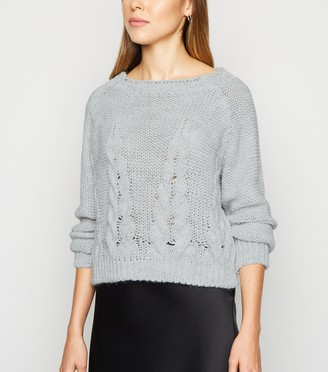 New Look Cameo Rose Cable Knit Jumper