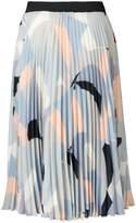 Oliver Bonas Refined Print Pleated Midi Skirt