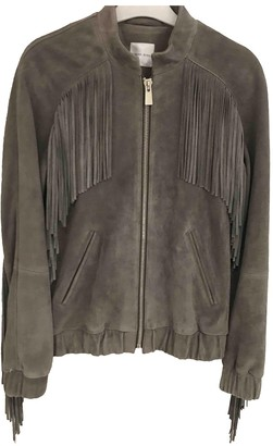 Anine Bing Grey Suede Jacket for Women