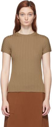 Studio Nicholson Tan Silk Petani T-Shirt