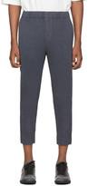 Issey Miyake Homme Plisse Blue Wool-Like Light Trousers