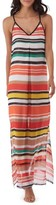 ECI Women's Stripe Chiffon Maxi Dress