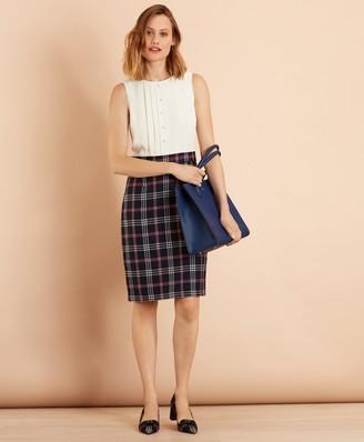 Brooks Brothers Mixed-Media Shirt Dress