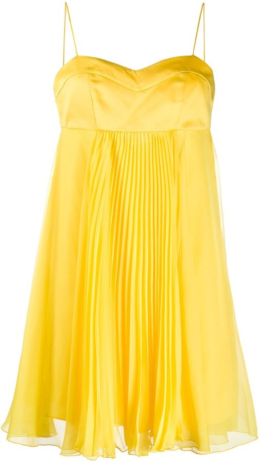Pinko Layered Pleated Mini Dress