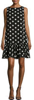 Tommy Hilfiger Polka Dot Bateau Neck Dress