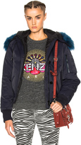 Kenzo Tech Jacket With Sheep Fur