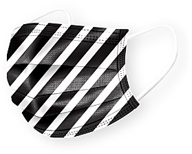 Medipop Disposable Stripe Print Face Masks, Set of 5