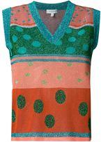 DELPOZO metallic knit vest