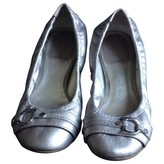 Christian Dior Grey Leather Ballet flats