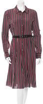 Equipment Striped Silk Dress w/ Tags