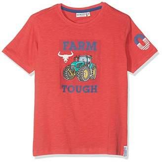 Salt&Pepper Salt and Pepper Boys' T-Shirt Tractor uni Farm (Bright Orange 376), (Size : 116/122)