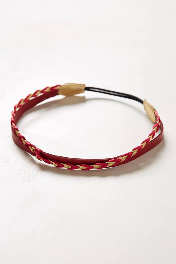 Anthropologie Spiced Leather Headband