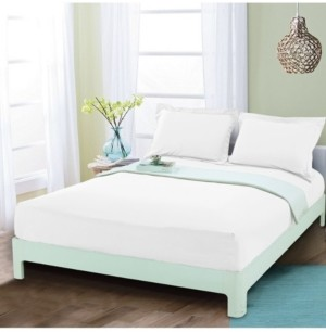 Elegant Comfort Silky Soft Single Fitted Sheet Queen White Bedding