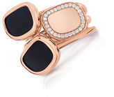 Roberto Coin Black Jade, Diamond and 18K Rose Gold Ring