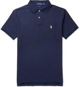 Polo Ralph Lauren Slim-fit Cotton-piqué Polo Shirt - Navy
