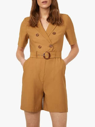 Warehouse Short Sleeved Buckle Playsuit