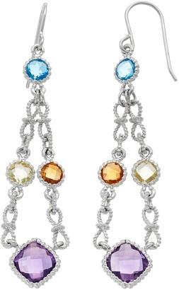 Sterling Silver Gemstone Chandelier Earrings
