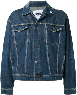 MSGM Oversized-Fit Denim Jacket