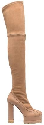 Casadei Thigh-High Platform Boots
