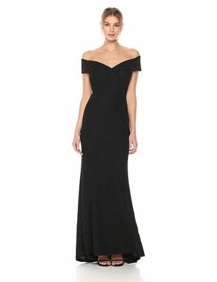 Brinker & Eliza Women's Off-The-Shoulder Glitter Gown