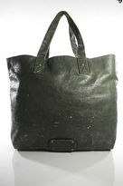 Juicy Couture Green Leather Gold Tone Hardware Tote Handbag