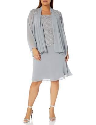R & M Richards R&M Richards Women's Plus Size Womans Chiffon and lace Jacket Dress