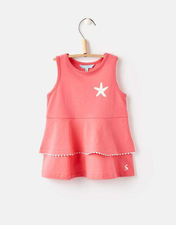 Joules Red Sky Fay Peplum Jersey Top 1yr