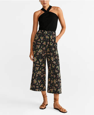 MANGO Flower Culottes Trousers