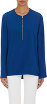 Stella McCartney Women's Zip-Front Cady Top-BLUE