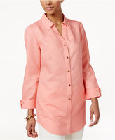 JM Collection Linen-Blend Shirt, Only at Macy's
