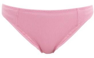 Ganni Ribbed Bikini Briefs - Womens - Pink