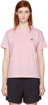 MAISON KITSUNÉ Pink Fox Head Patch T-shirt