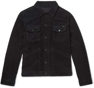 Tom Ford Slim-Fit Washed Cotton-Blend Corduroy Trucker Jacket
