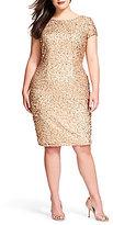 Adrianna Papell Plus Beaded Sheath Dress